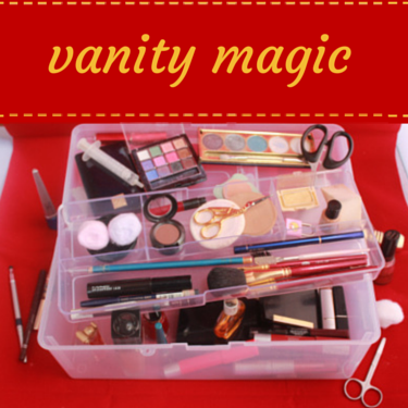 Scrapbooking supplies vanity case